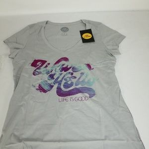 Women's Newbury Wave Hello T-Shirt Gray Medium